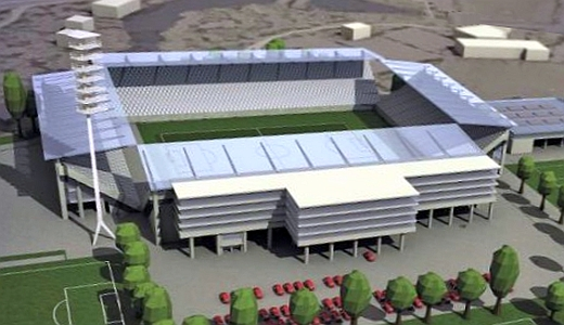 JEZT - Das Ernst-Abbe-Sportfeld nach dem Umbau - Image 2 der Visualisierung von Knick Design GbR © im Auftrag des FCC