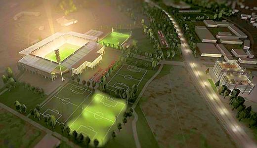JEZT - Das Ernst-Abbe-Sportfeld nach dem Umbau - Image 4 der Visualisierung von Knick Design GbR © im Auftrag des FCC