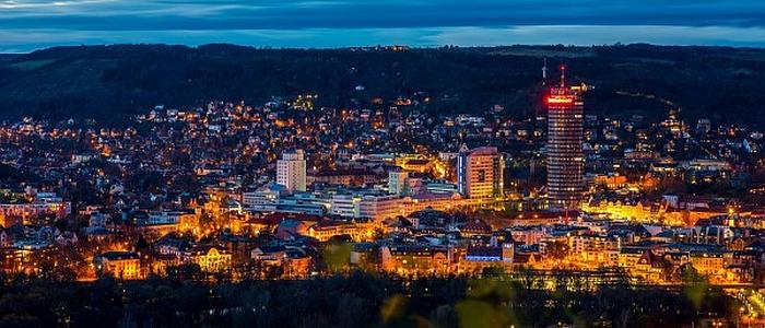 JEZT - Die Lichtstadt Jena am Abend - Foto 1 © JenaKultur Haecker