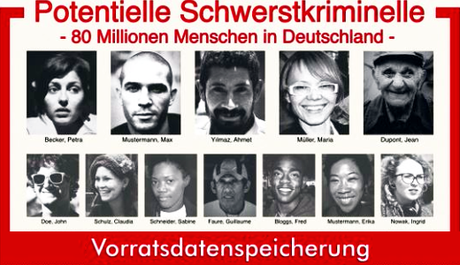 JEZT - Potentielle Schwerstverbrecher - 80 Millionen Deutsche - Vorratsdatenspeicherung - Abbildung unter CCoHPjrWYAEgixz