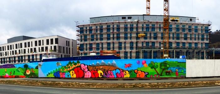 JEZT - Teile des Neubaus am Jenaer Klinikum im April 2015 - Foto © MediaPool Jena
