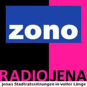 Neues ZONO Radio Jena Logo fuer Stadtratssaitzungen