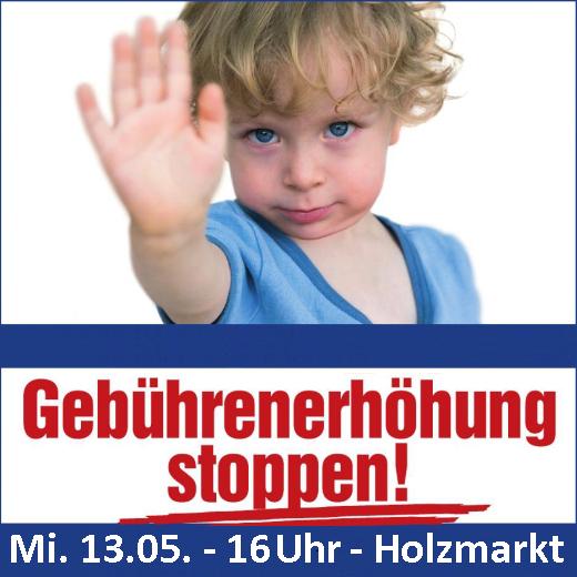 JEZT - Aufruf zur Demo am 16. Mai 2015 am Holzmarkt - Abbildung © STEB Jena