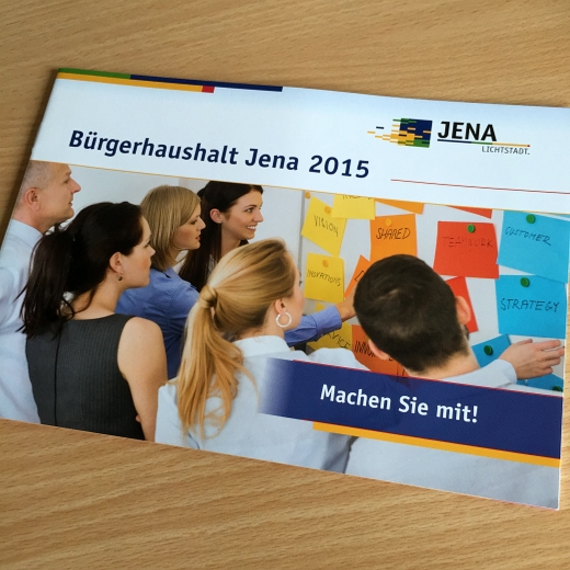 JEZT - Die Broschuere zum Buergerhaushalt 2015 - Foto © MediaPool Jena