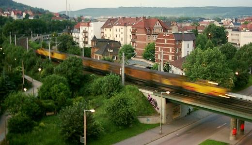 JEZT - Jena Schillerpassage 6 Uhr frueh - Foto © MediaPool Jena 2000