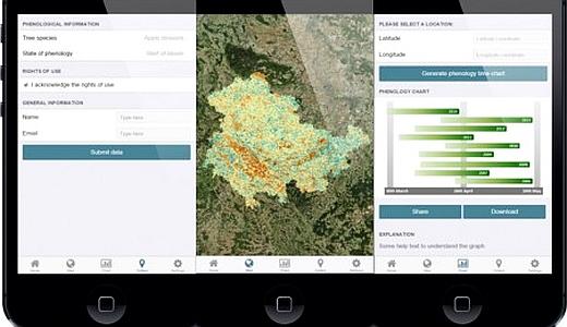 JEZT -  Screenshots wie die praemierte App der Jenaer Geographen aussehen soll - Abbildung © FSU Eberle