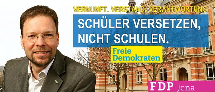 Dr Thomas Nitzsche - Schueler versetzen nicht Schulen 2015 - Abbildung © FDP Jena