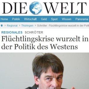 JEZT - Bericht der WELT ueber Dr. Albrecht Schroeter - Abbildung © MediaPool Jena