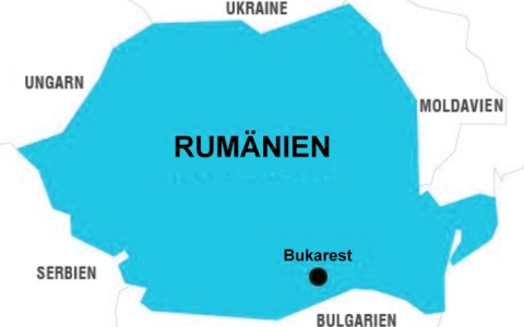 JEZT - Landkarte von Rumaenien - Abbildung © MediaPool Jena