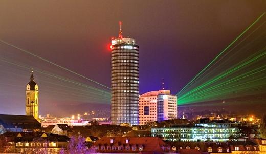 JEZT - Lichtstadt Jena Lasershow - Foto © Stadt Jena JenaKultur