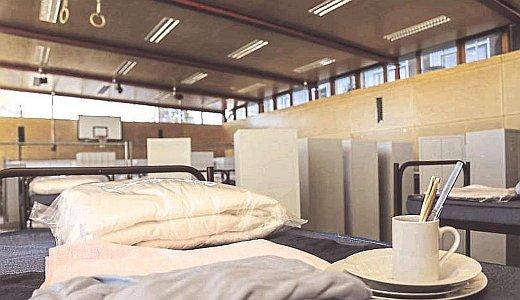 JEZT - Unterbringung in einer Turnhalle - Symbolbild © MediaPool Jena