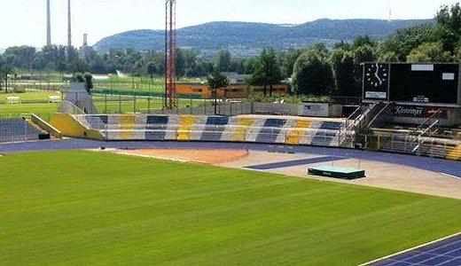 JEZT - Die bunte Suedtribuene im Ernst-Abbe-Sportfeld - Foto © I Unser Stadion