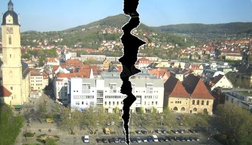JEZT - Es geht ein Riss durch unsere Stadt - Symbolbild © MediaPool Jena