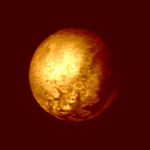 JEZT - Foto des Pluto 2015-07-09 - Foto © NASA Mission New Horizon JHUAPL SWRI - Bildbearbeitung © InterJena