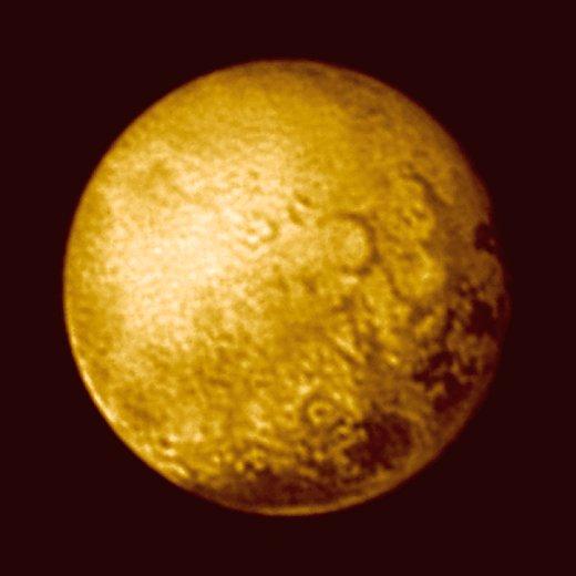 JEZT - Foto des Pluto 2015-07-11 - Foto © NASA Mission New Horizon JHUAPL SWRI - Bildbearbeitung © InterJena