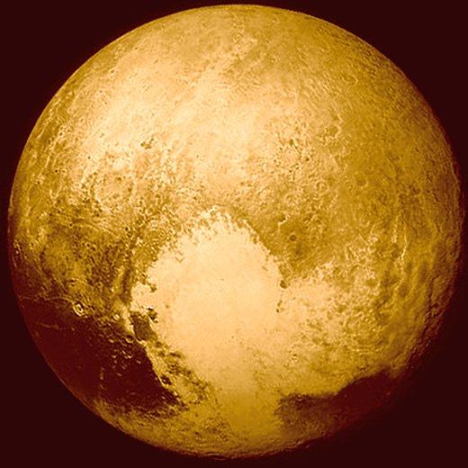 JEZT - Foto des Pluto 2015-07-14 - Foto © NASA Mission New Horizon JHUAPL SWRI - Bildbearbeitung © InterJena