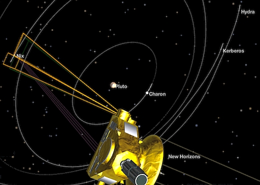JEZT - Pluto and four of his moons will be spotted 2015-07-14 - Abbildung © NASA