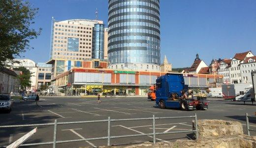 JEZT - Der Eichplatz vor dem Aufbau des Altstadtfestes - Foto © MediaPool Jena