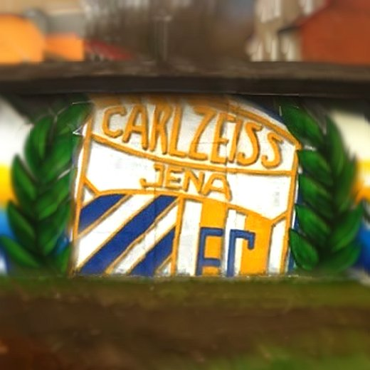 JEZT - FC Carl Zeiss Graffiti - unscharf - Symbolfoto © MediaPool Jena