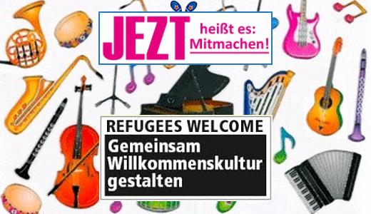 JEZT - Gemeinsam Willkommenskultur gestalten - Zukunfts-Musikclub - Symbolbild © MediaPool Jena