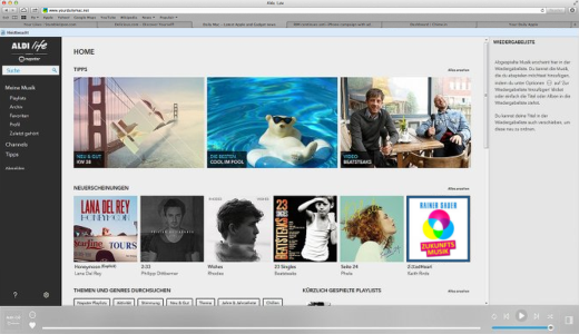 JEZT - Startwebseite von AldiLife - Abbildung © MediaPool Jena