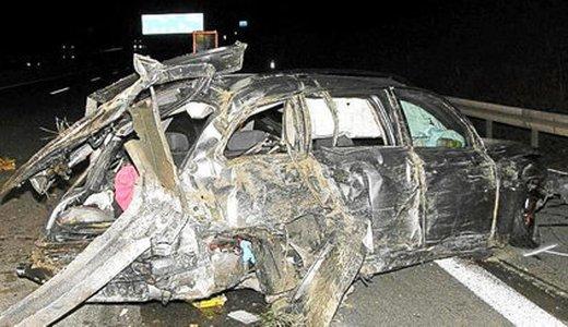JEZT - Verunfallter BMW auf der A4 bei Magdala - Foto 1 © Autobahnpolizeiinspektion