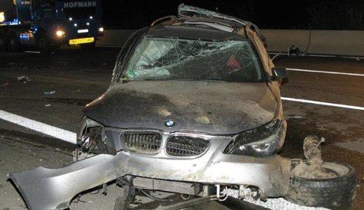 JEZT - Verunfallter BMW auf der A4 bei Magdala - Foto 2 © Autobahnpolizeiinspektion