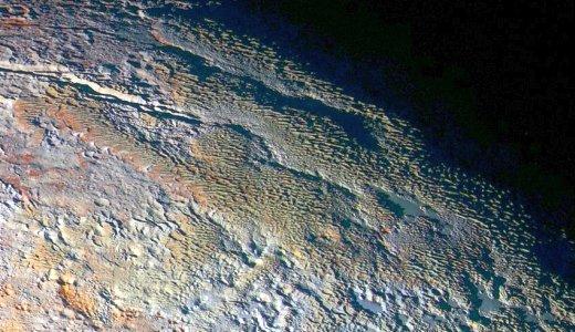 JEZT - Zwergplanet Pluto in Farbe - Foto 01 © NASA Mission New Horizon JHUAPL SWRI - Bildbearbeitung © InterJena