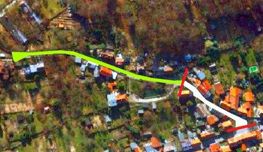 Die Lützowstraße aus der Luft – Abbildung © Stadt Jena KSJ