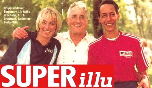 JEZT - Erich Drechsler mit Heike Drechsler und Catherina Bader-Bille in der SUPERillu - Abbilduno © MediaPool Jena