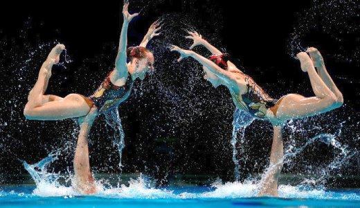 JEZT - Synchronschwimmen und Wasserball zaehlt er zu den am schwierigsten abzulichtenden Sportarten - Foto © Lichtbildarene Matthias Hangst