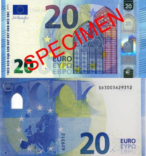 JEZT - Der neue 20 Euro Schein - Abbildung © MeiaPool Jena