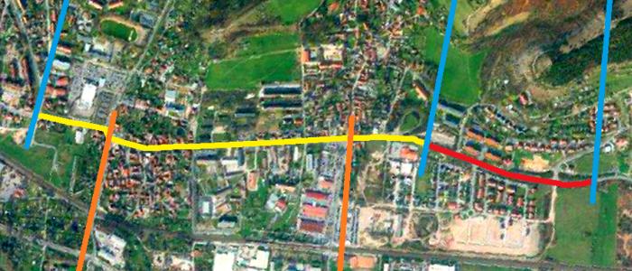 JEZT - Gesamtausdehnung der Strassenbahnverlaengerung nach Norden - Abbildung © Stadt Jena KSJ