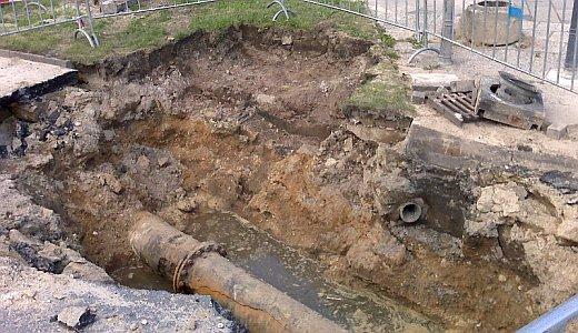 JEZT - Havarie der Trinkwasserleitung in der Straße Am Anger - Foto 4 © MediaPool Jena