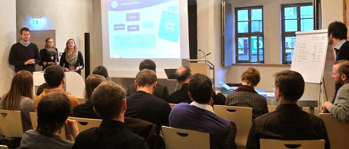 JEZT - Abschlusspräsentation des Seminars zur Unternehmensgründung der FSU Jena vom Januar 2013 - Foto © FSU Kasper