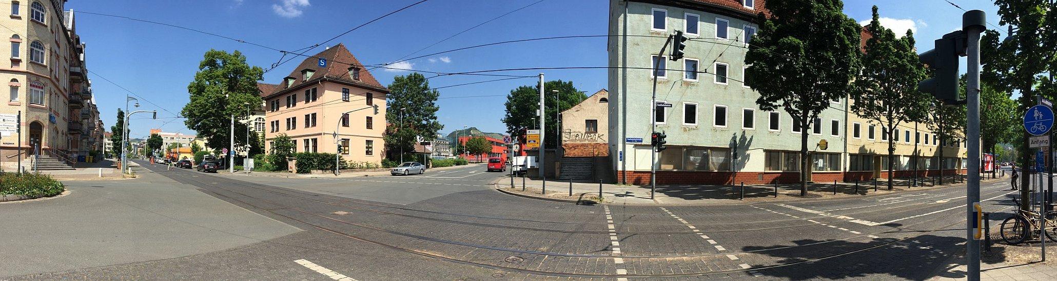 JEZT - Blich vom Damenviertel aus auf das neue Gefahrenabwehrzentrum - XXLFoto © MediaPool Jena