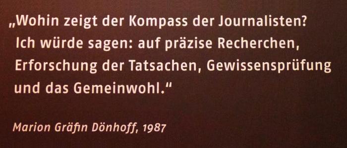 JEZT - Der Kompass der Journalisten - Marion Gräfin Dönhoff - Abbildung © MediaPool Jena