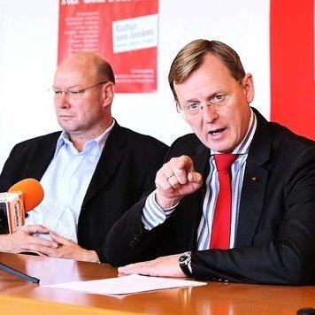 JEZT - Frank Kuschel von der Bürgerallianz Thüringen mit Minisiterpräsident Bodo Ramelow - Foto © Die Linke Thüringen