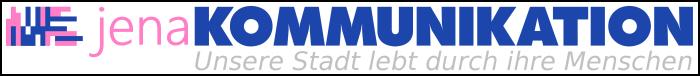 JEZT - Logo und die Bildmarke jenaKOMMUNIKATION - Abbildung © MediaPool Jena