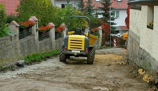 JEZT - Strassenbauarbeiten von JenaWasser - Foto © Stadt Jena KSJ