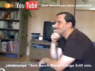 ZDF Länderspiegel YouTube Video - Arm durch Miete - Screenshot © ZDF