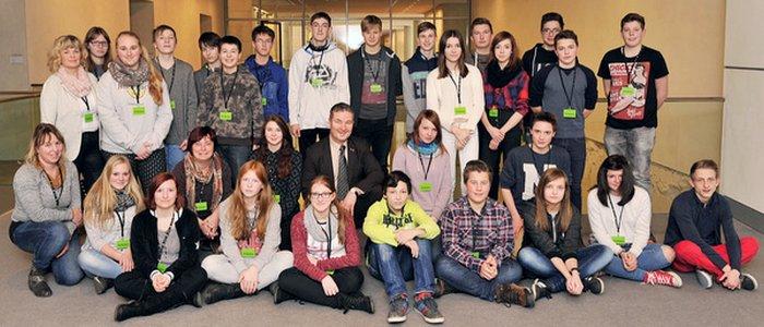 JEZT - Die 8. Klasse der Regelschule Am Hermsdorfer Kreuz im Deutschen Bundestag - Foto © Büro Albert H Weiler