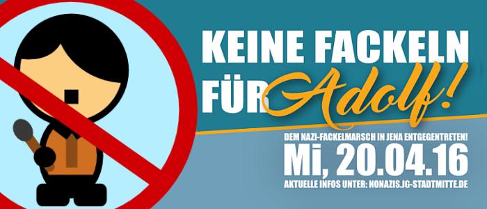 JEZT - JG Stadtmitte Aktion Keine Fackeln für Adolf - Abbildung © MediaPool Jena