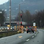 Stadtrodaer Straße - Schwenk nach Burgau während der Sperrung der Straßenbrücke - Foto © MediaPool Jena