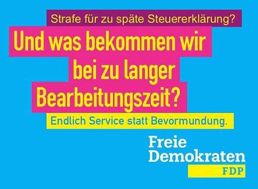 FDP - Und was bekommen wir bei zu langer Bearbeitungszeit