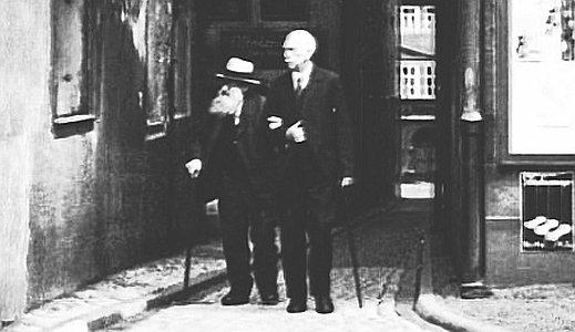 JEZT - Fotografie von Carl Zeiß aus dem Jahre 1887 bei einem Spaziergang durch die Gassen von Jena - Abbildung © MediaPool Jena