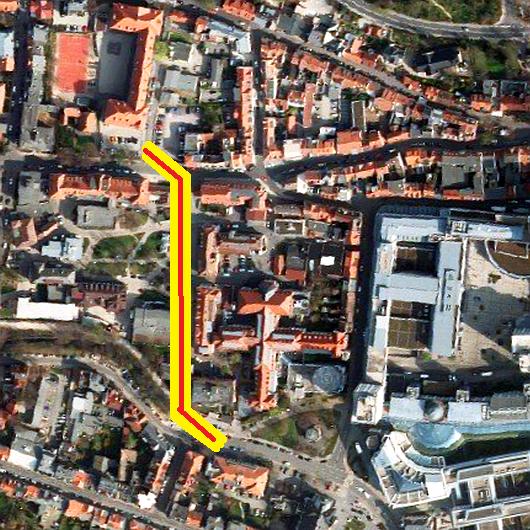 FDP Jena - Möglicher Verlauf einer Westtangente in Jena - Fotoquelle Kartenwerk der Stadt Jena