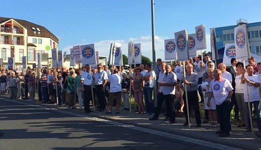 FDP - Proteste in Hermdorf gegen die Gebietsreform von Rot-Rot-Grün