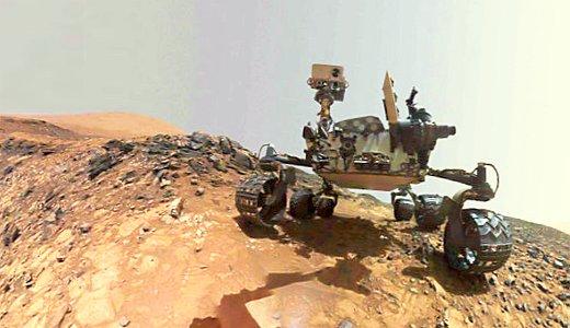 JEZT - Curiosity Rover climbing up at Mount Sharp - Foto © NASA Team Curiosity JPL