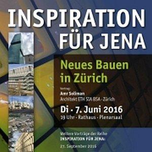 JEZT - Posterausschnitt Inspiration für Jena - Neues Bauen in Zürich - Abbildung © MediaPool Jena